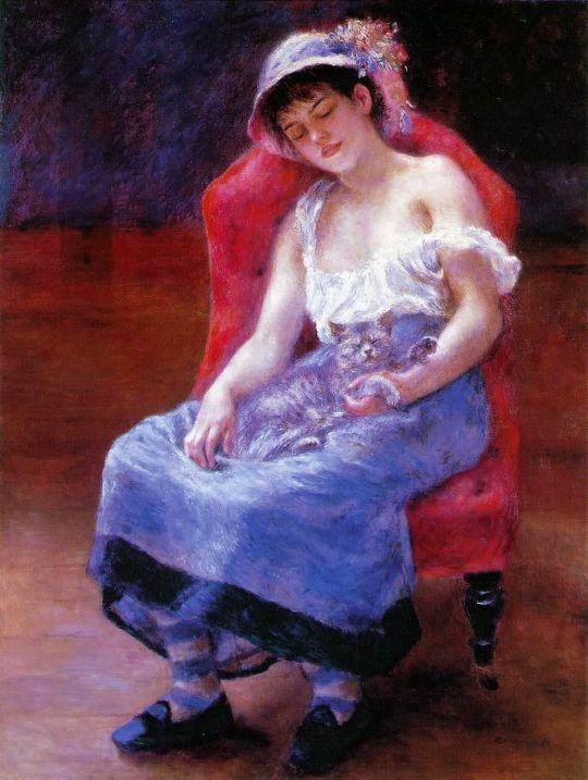 Спящая девушка (также известная как Девушка с кошкой)