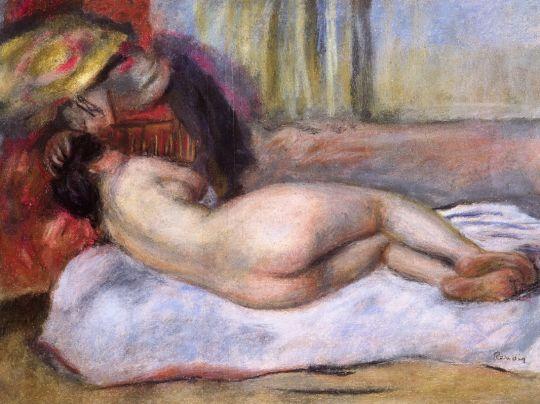 Спящая обнаженная в шляпе (также известная как Отдых)