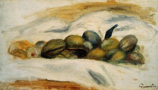 Натюрморт - Миндаль и грецкие орехи
