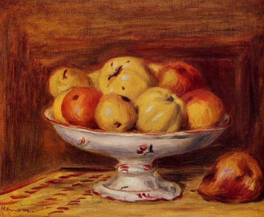 Натюрморт с яблоками и миндалем
