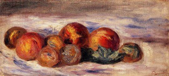 Натюрморт с апельсином и сахарницей