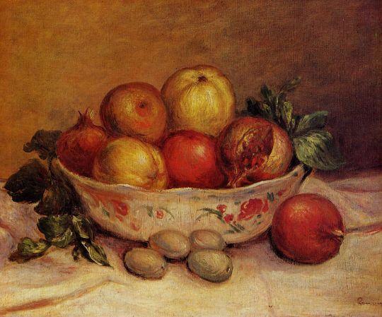 Натюрморт с грушами и виноградом