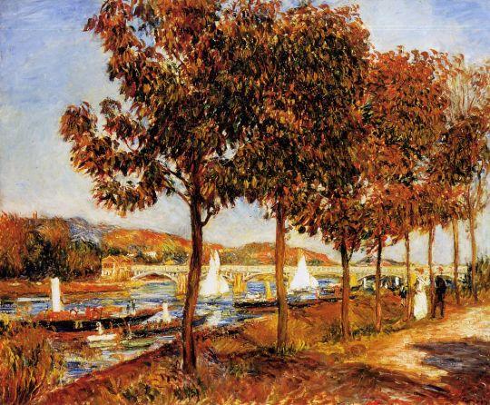 Мост в Аржантее осенью