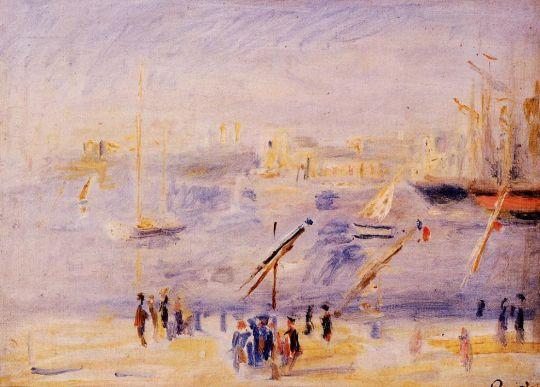 Старый порт Марселя, люди и лодки