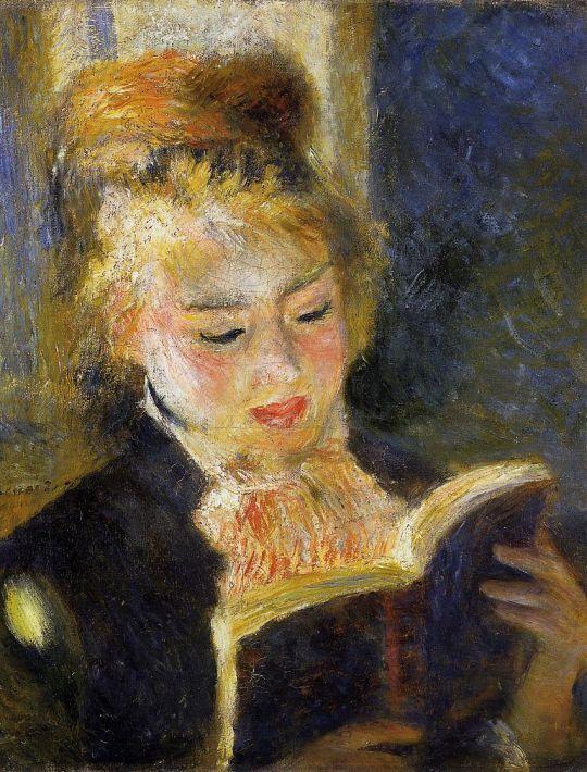 За чтением (также известная как Девушка, читающая книгу)