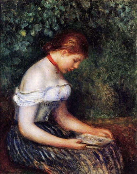 За чтением (также известная как Сидящая девушка)