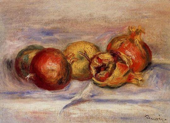 Три граната и два яблока