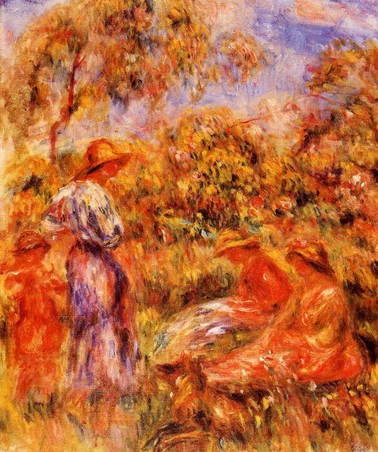 Пейзаж с тремя женщинами и ребенком
