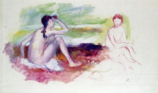 Пейзаж с двумя купальщицами