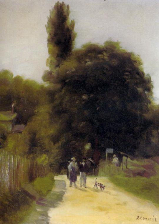 Пейзаж с двумя фигурами