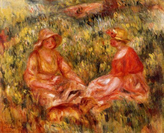 Две женщины в траве