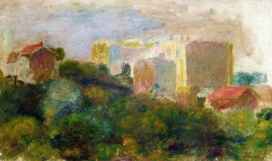 Вид из сада Ренуара на Монмартре