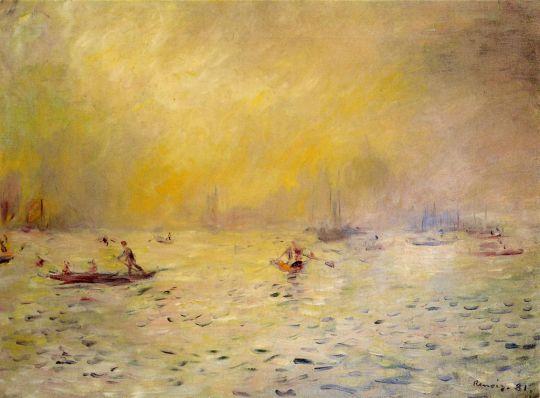 Вид на Венецию, туман