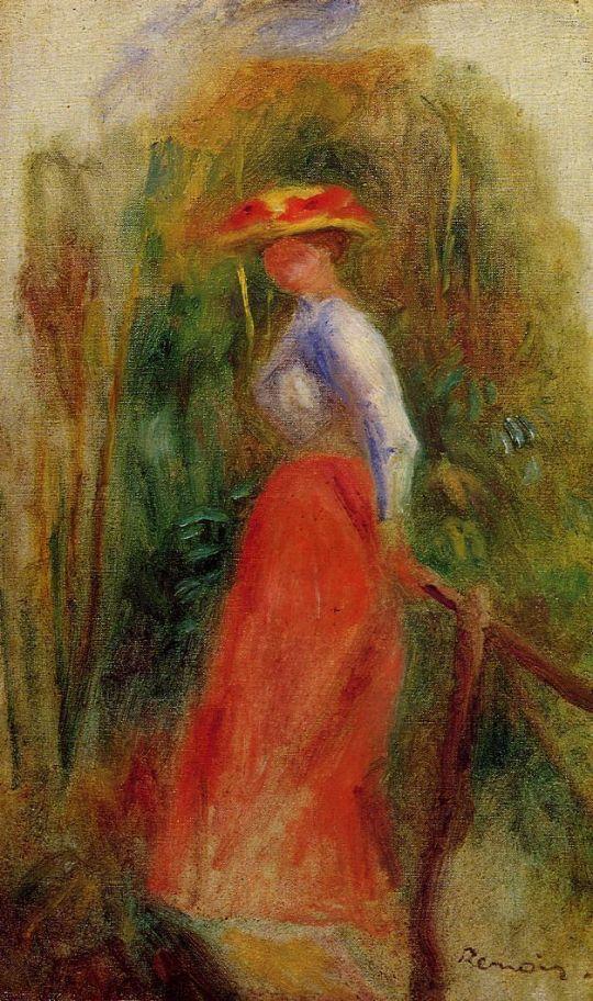 Пейзаж с женщиной