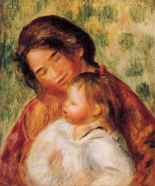 Женщина и ребенок в саду (эскиз)