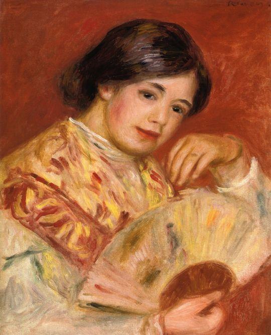 Женщина с веером