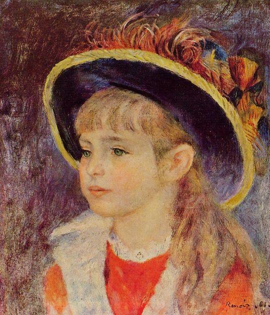 Девочка в голубой шляпке