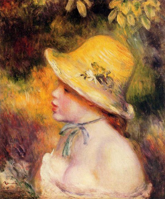 Девочка в соломенной шляпе