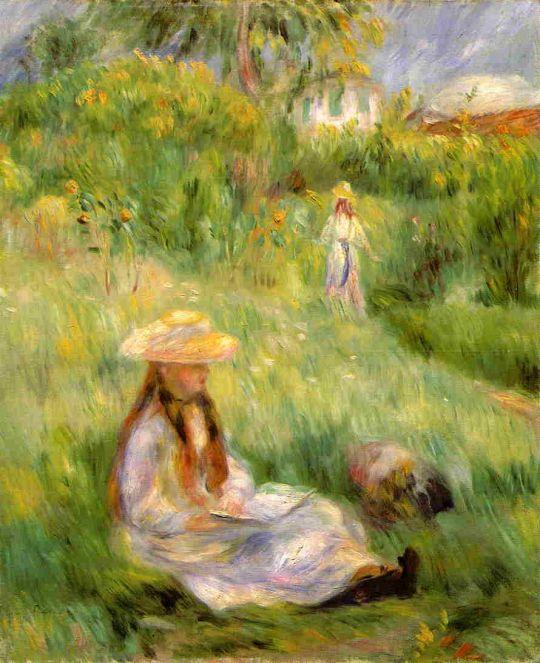 Девушка в саду Мези
