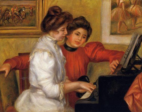 Девочки за фортепиано