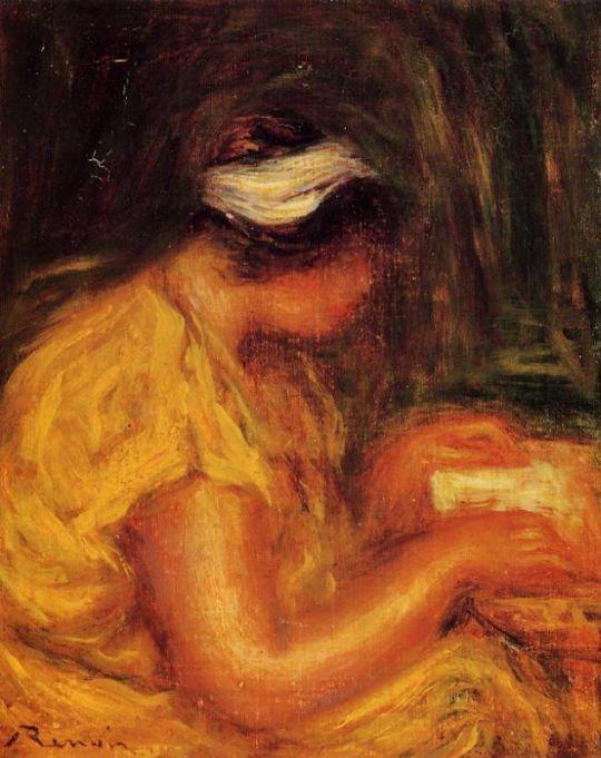 Девушка, читающая иллюстрированный журнал