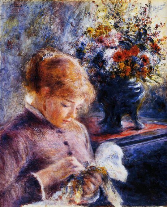 Девушка за шитьём