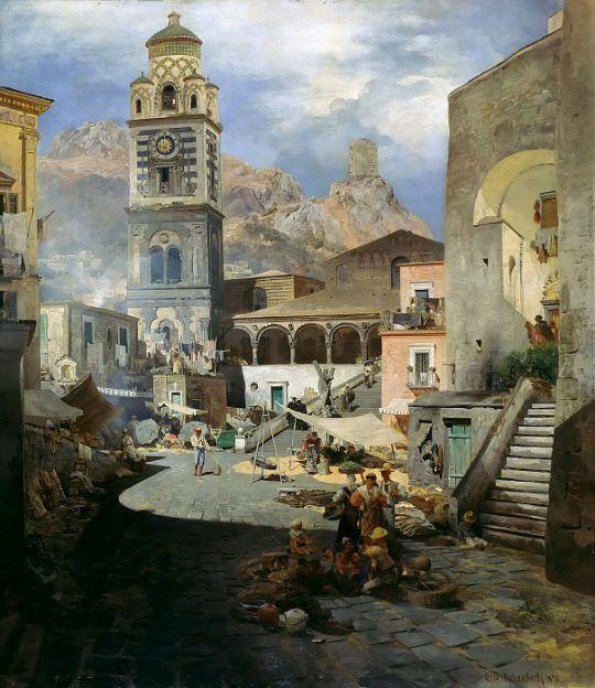 Рыночная площадь в Амальфи