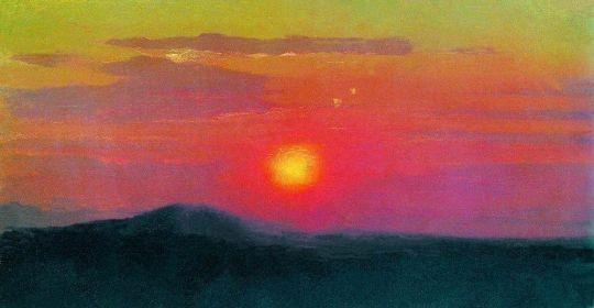 Красный закат.