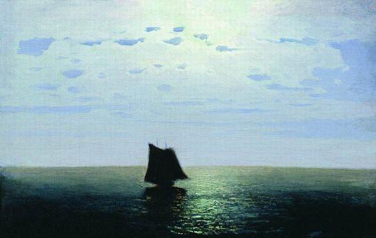 Лунная ночь на море.