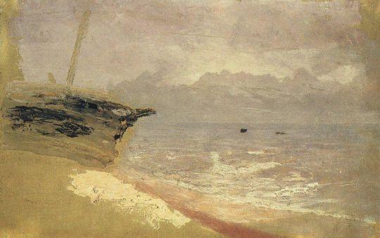 Море. Серый день. Мариуполь.