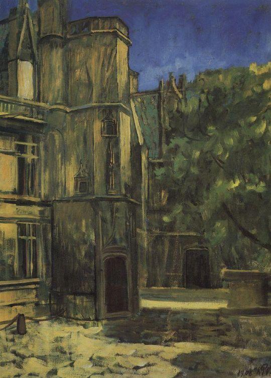 Вид музея Клюни в Париже.