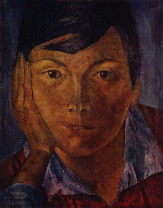 Желтое лицо (Женское лицо).