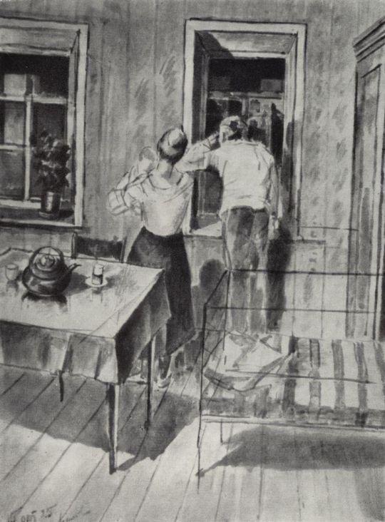 Первый эскиз картины