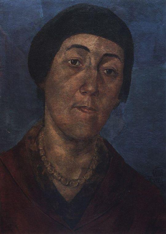 Портрет М.Ф.Петровой-Водкиной, жены художника.