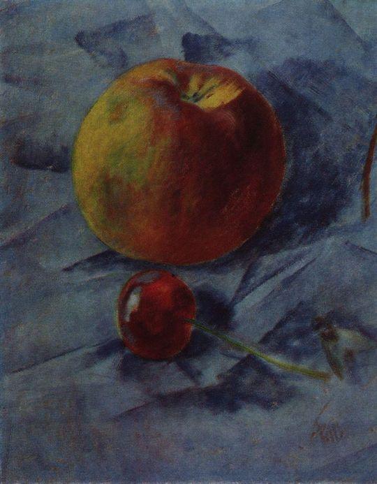 Яблоко и вишня.