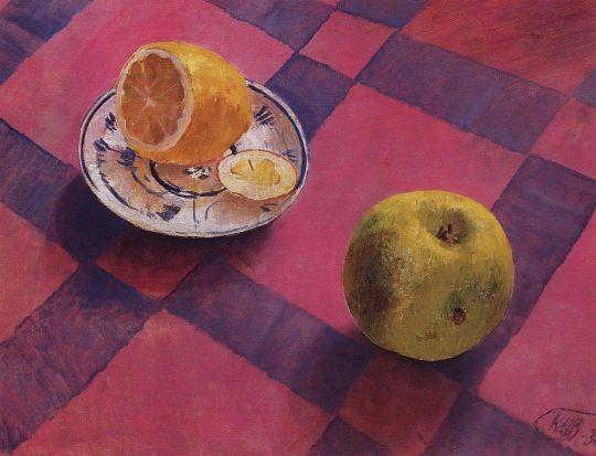 Яблоко и лимон.
