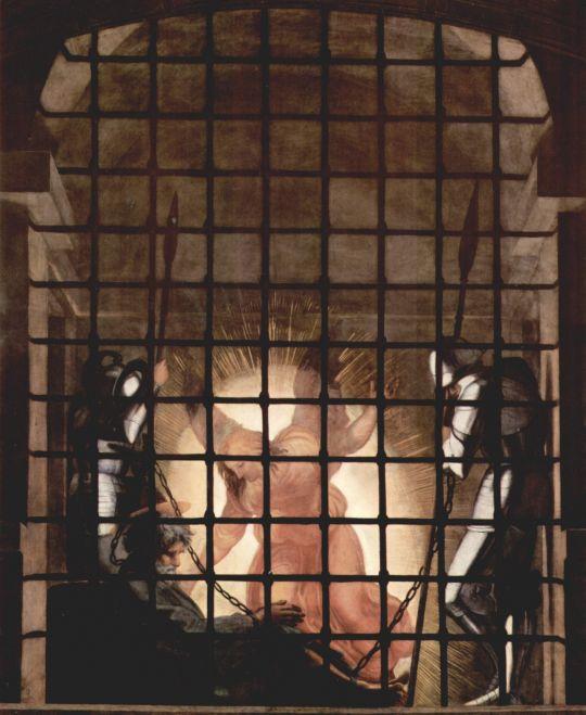 Изведение Апостола Петра из темницы (фрагмент)