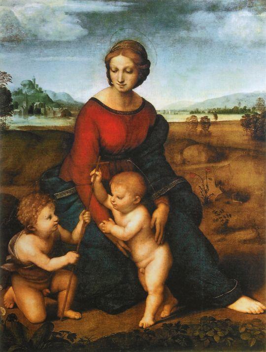Мадонна в зелени (Дева Мария на лугу)