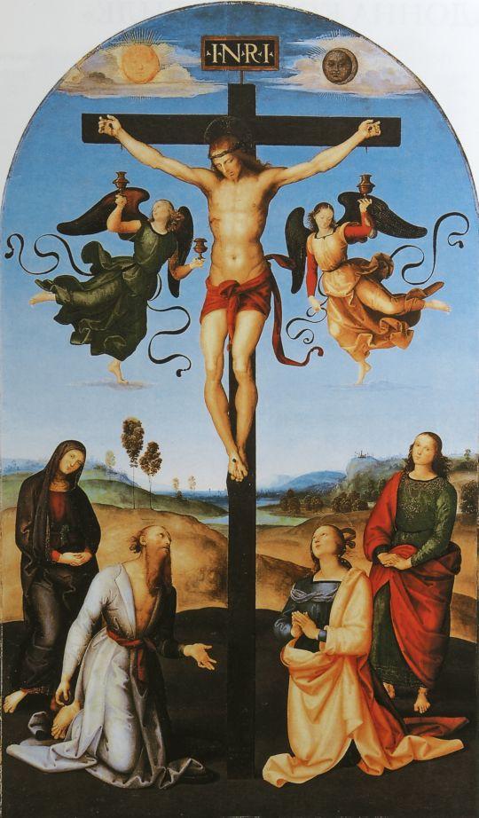 Распятие с Девой Марией, святыми и ангелами