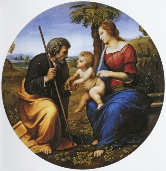 Святое семейство под пальмой