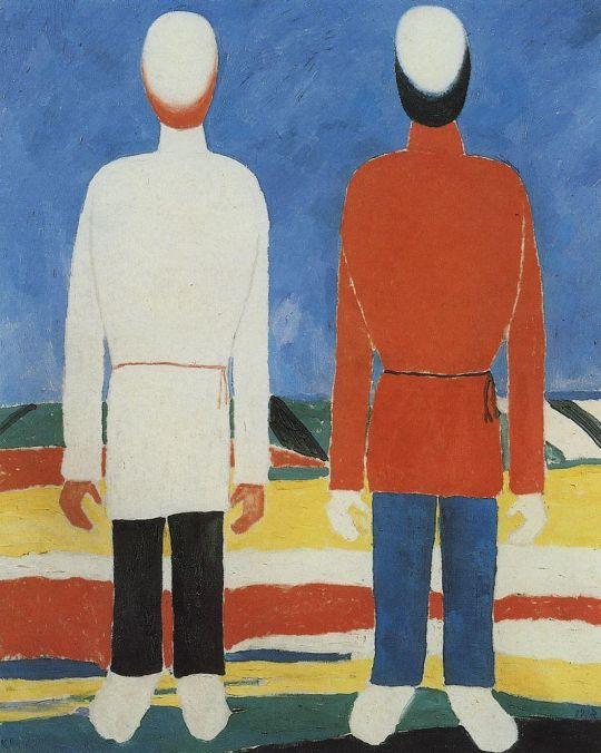 Две мужские фигуры (В белом и красном)