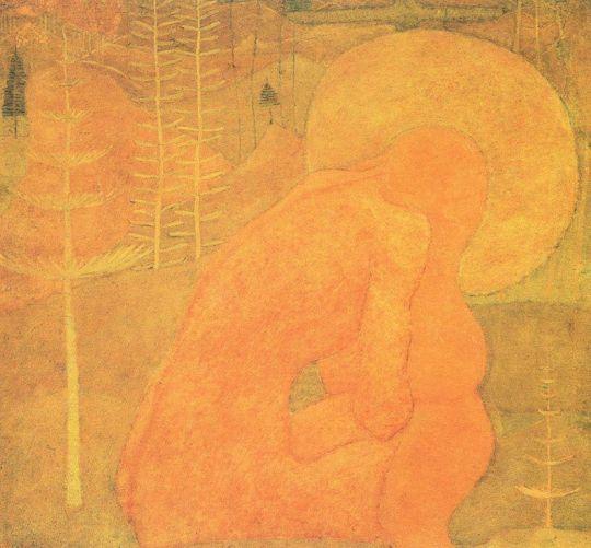 Эскиз фресковой живописи. Молитва
