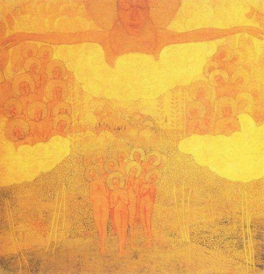 Эскиз фресковой живописи. Торжество неба
