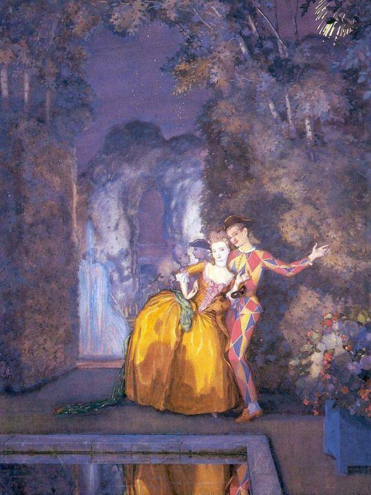 Арлекин и дама (Фейерверк)