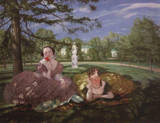 Две дамы в парке