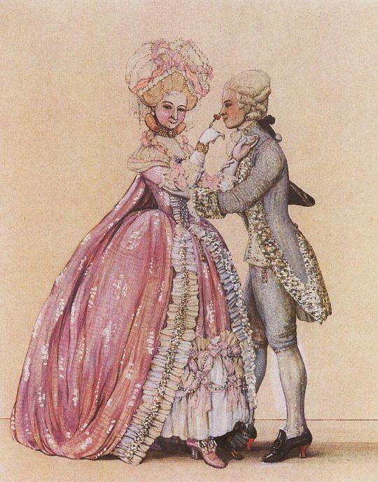 Как одевались в старину (Дама и кавалер)