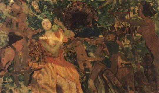 Людмила в саду Черномора