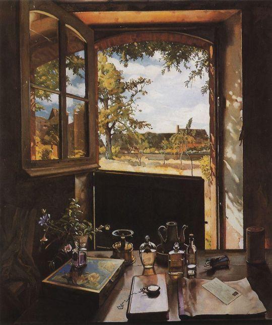 Окно - дверь - пейзаж (Открытая дверь в сад)