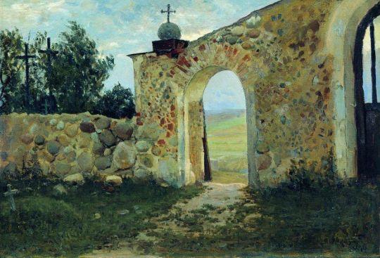 Вход на кладбище (Монастырская стена)
