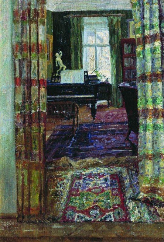Интерьер с роялем
